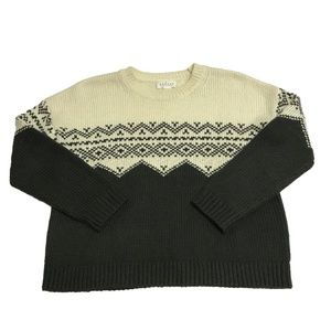 Graham And Spencer Leanna Fair Isle Knit Sweater S